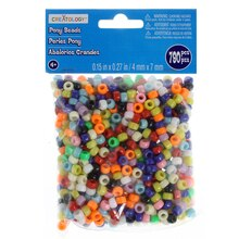 Small Opaque Pony Beads by Creatology, 4mm x 7mm, Multi